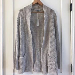 [James Perse] Open Knit Cardigan Sweater Tan